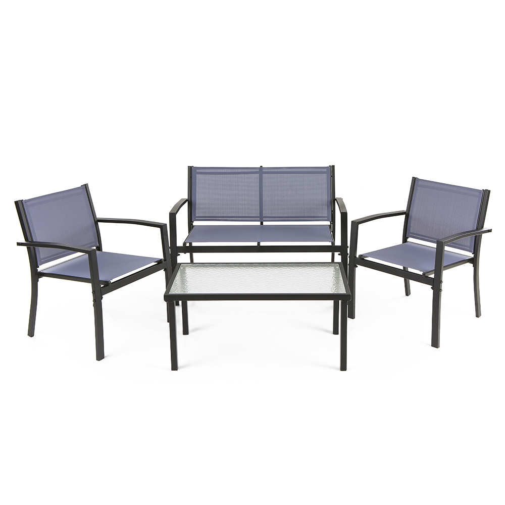 Porch Sofa Ikayaa 4pcs Patio Garden Furniture Set Porch