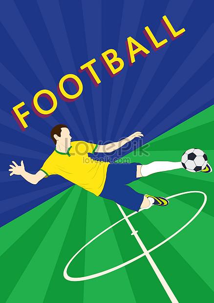Gambar Tentang Sepak Bola : gambar, tentang, sepak, Drawn, World, Soccer, Player, Poster, Illustration, Image_picture, Download, 630001943_lovepik.com