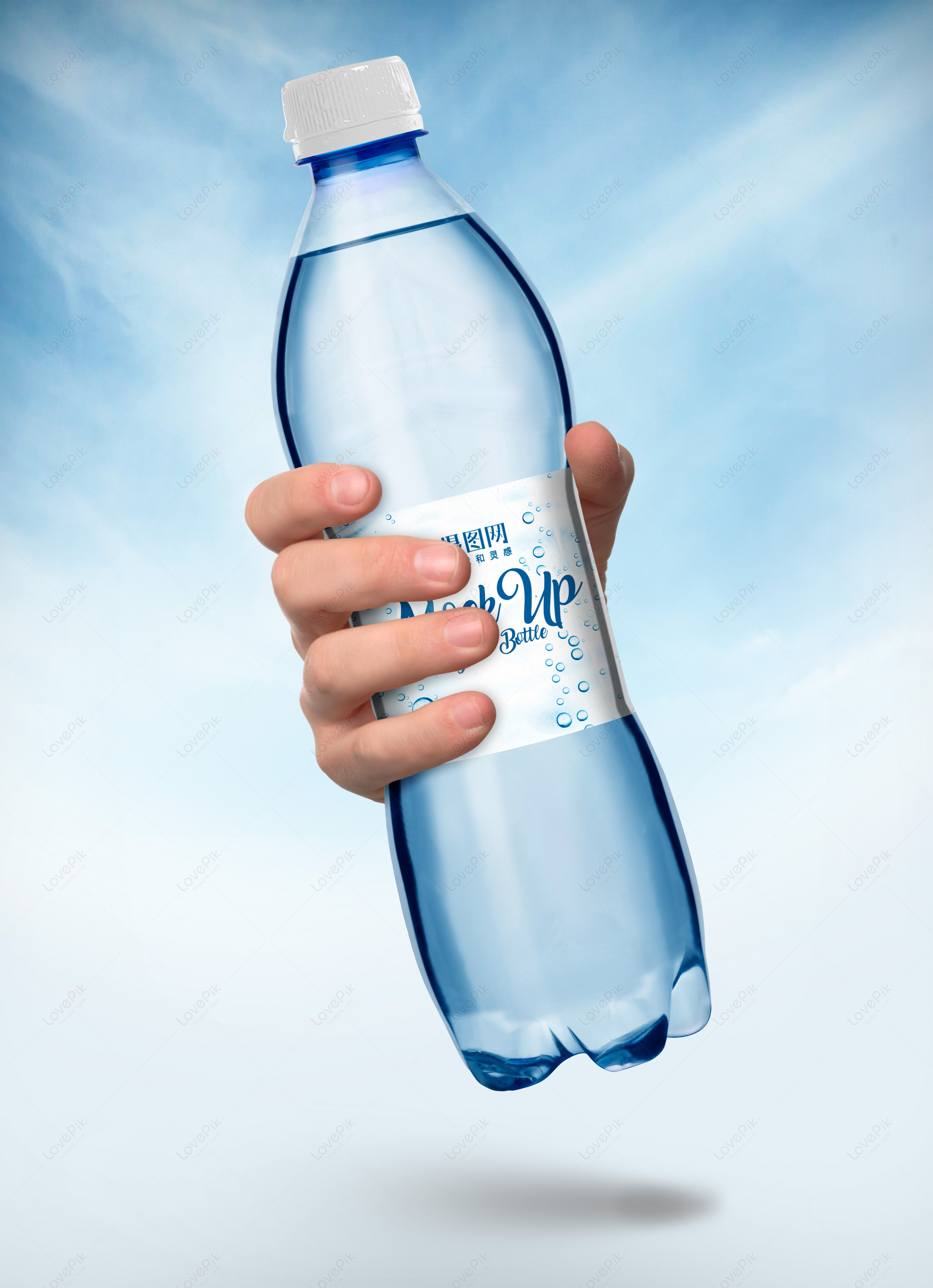 Hand Held Mineral Water Bottle Packaging Mockup Template Imagepicture Free Download 400836863