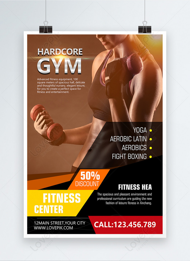 gym poster template image picture free