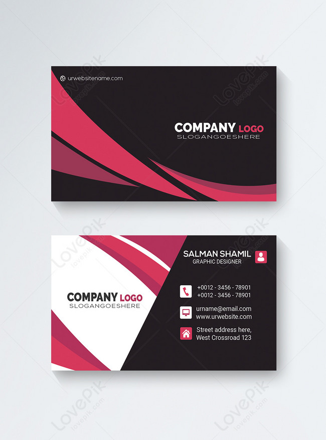 Whether you're starting your own small business or you're already running one, its continued financial health is one of the most important things to keep in mind. Black And Pink Creative Business Card Template Image Picture Free Download 450033627 Lovepik Com