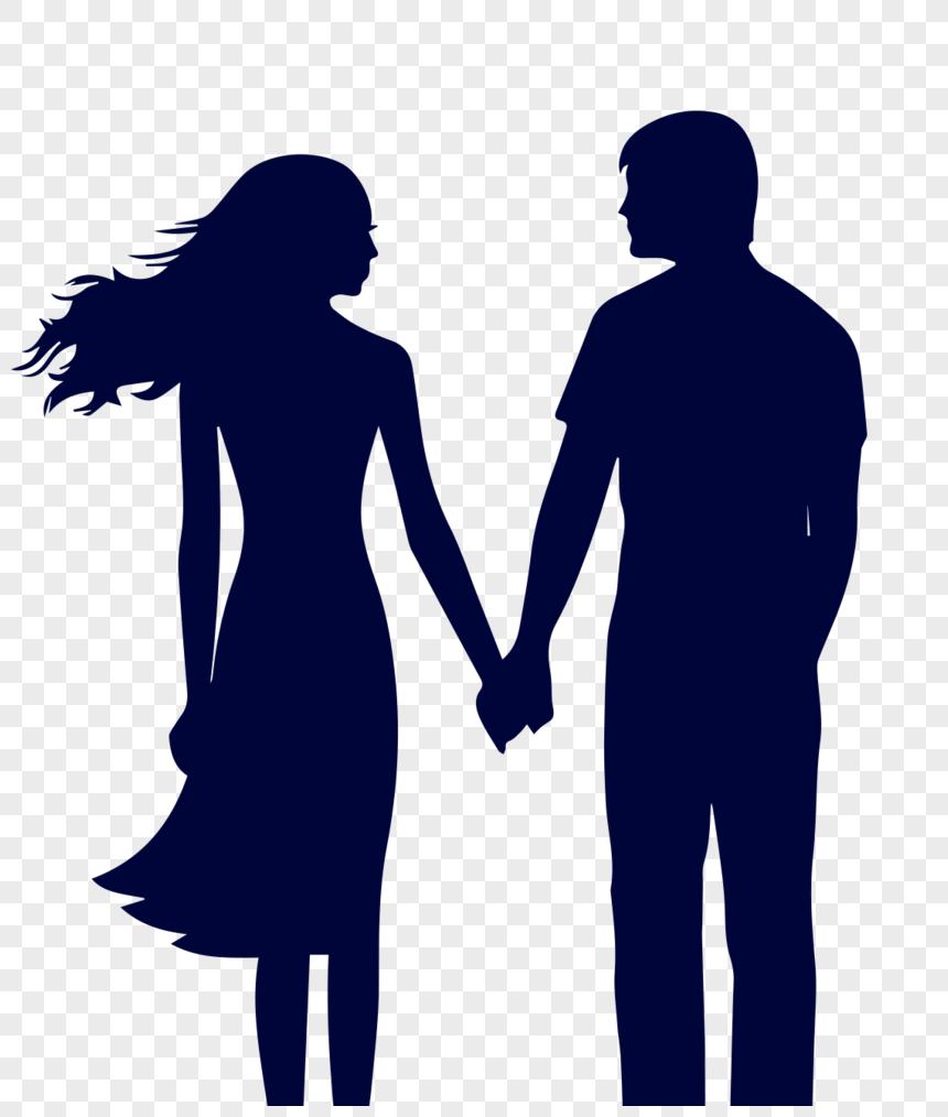 情侶牽手剪影PNG圖案素材免費下載 - 尺寸1113 × 1317px - 圖形ID400222695 - Lovepik