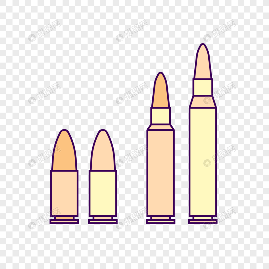size bullet vector png