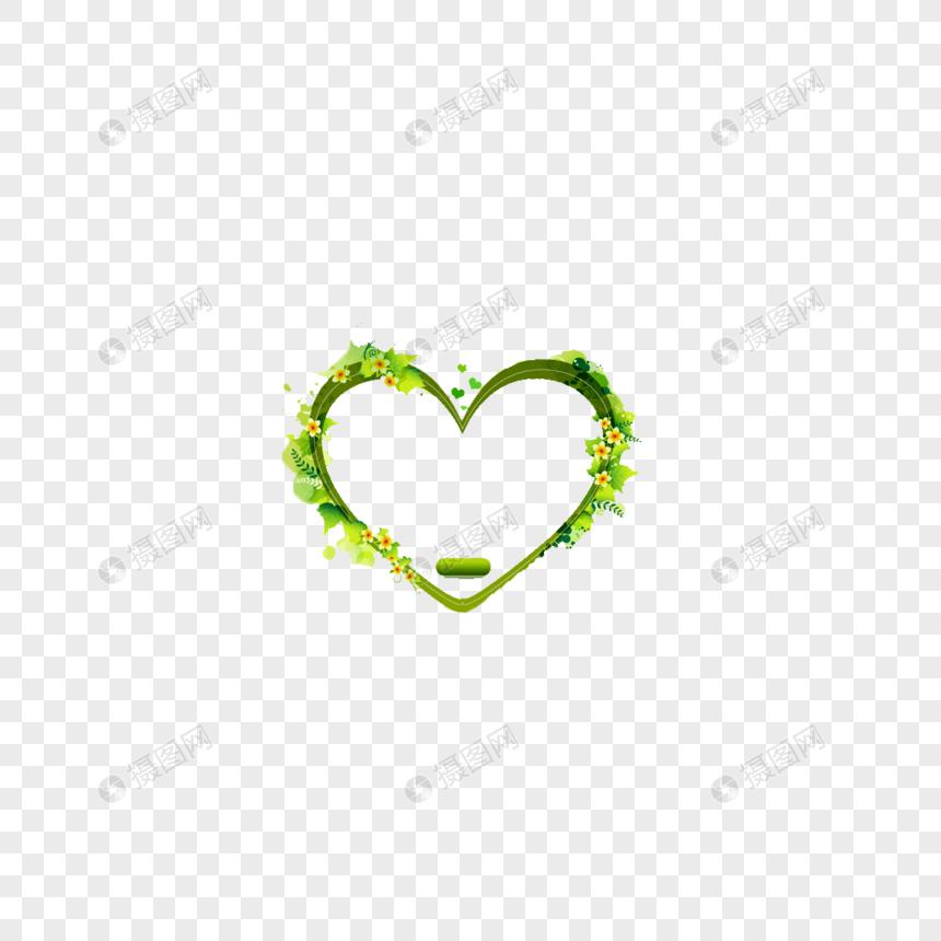 綠色愛心花邊PNG圖案素材免費下載 - 尺寸300 × 300px - 圖形ID400377833 - Lovepik