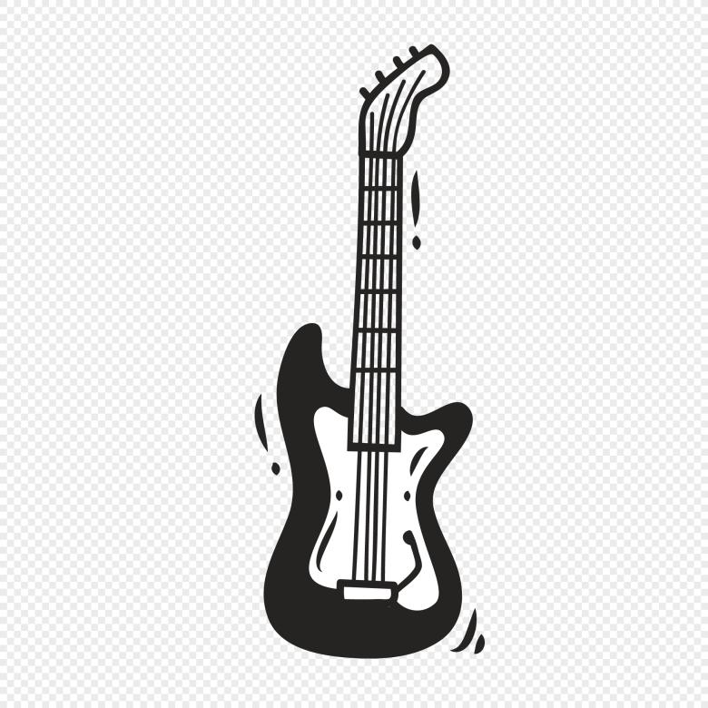 hand painted graffiti musical instrument bass vector element png