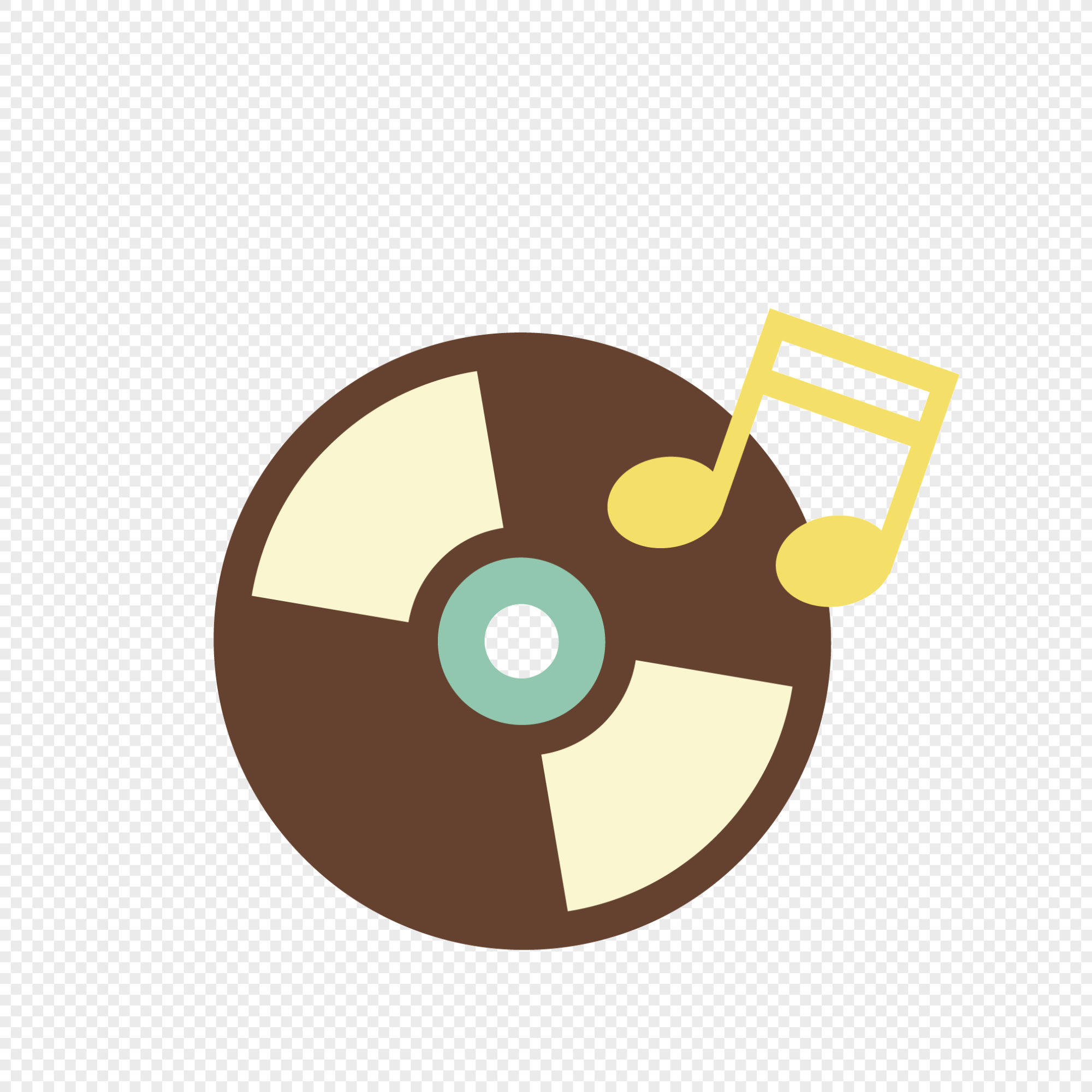 hight resolution of cartoon party cd icon
