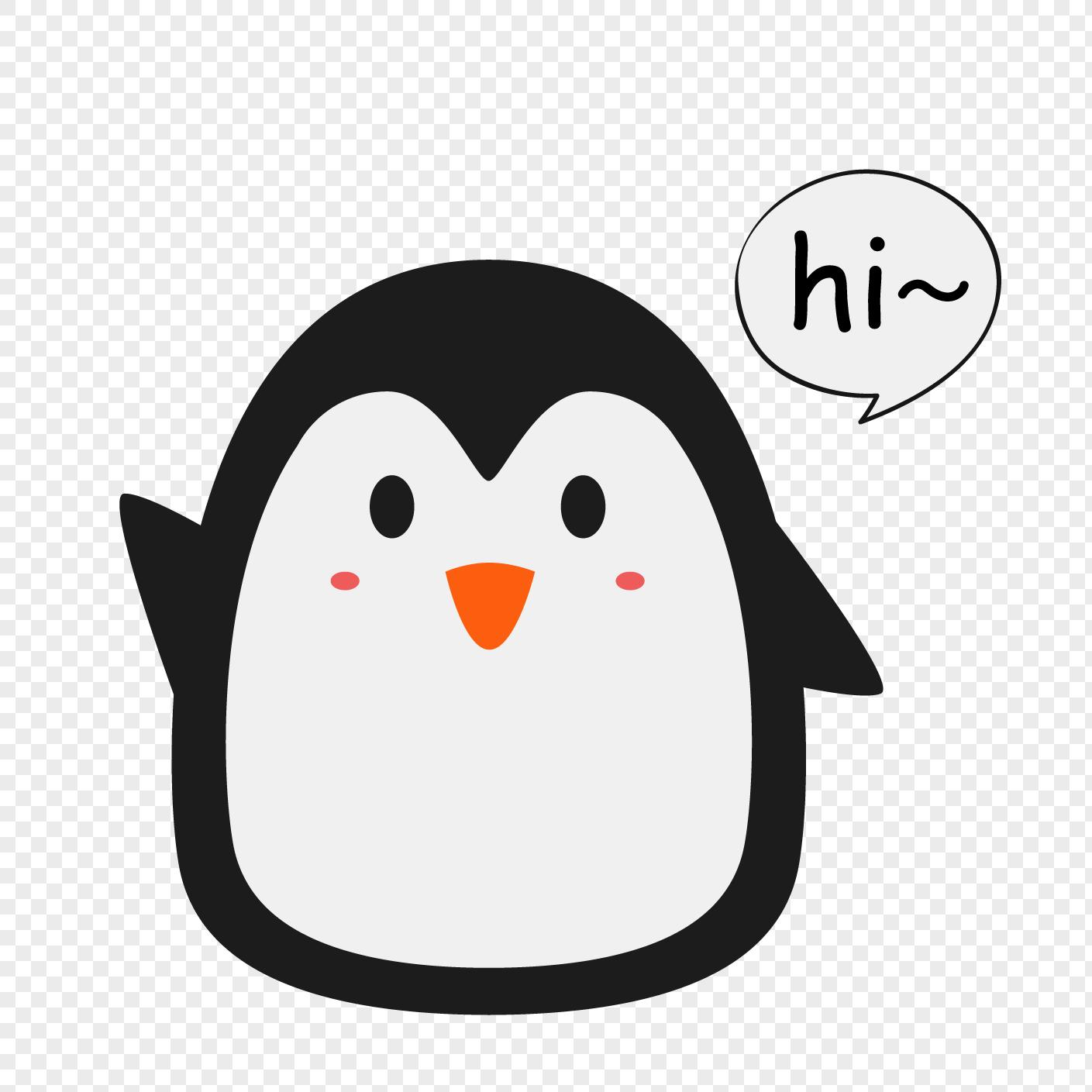 可愛打招呼的小企鵝AI圖案素材免費下載 - 尺寸1389 × 1389px - 圖形ID400959494 - Lovepik