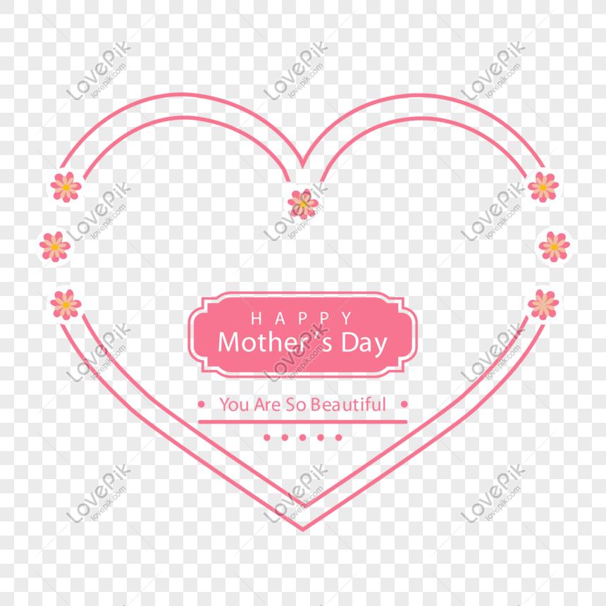 簡約線條母親節愛心邊框AI圖案素材免費下載 - 尺寸2001 × 2001px - 圖形ID401090861 - Lovepik