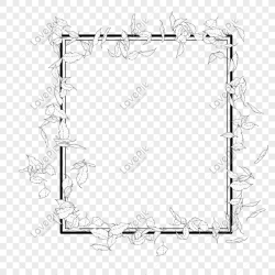 Black and white leaves square border png image picture free download 401142565 lovepik com