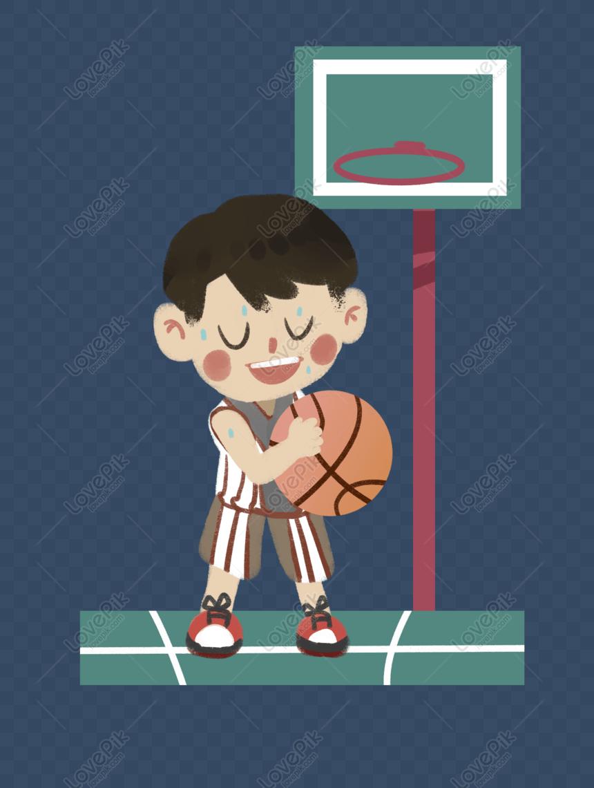 Gambar Bermain Basket Kartun : gambar, bermain, basket, kartun, Bermain, Keringat, Basket, Grafik, Gambar, Unduh, Gratis, Lovepik
