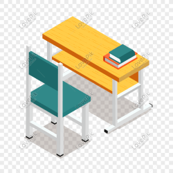 25d hand painted cartoon three dimensional student desks and cha png image picture free download 401524354 lovepik com
