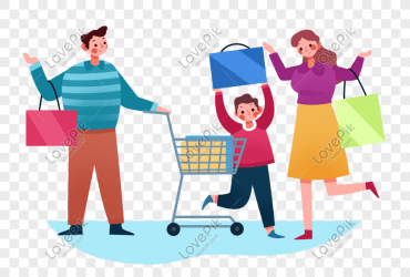 Cartoon family shopping characters png image picture free download 401603041 lovepik com