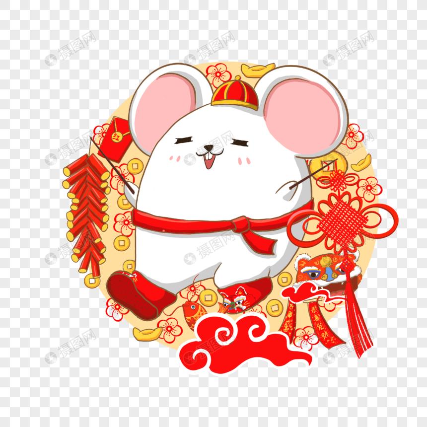 鼠年新年年畫圖案PSD圖案素材免費下載 - 尺寸2000 × 2000px - 圖形ID401630184 - Lovepik