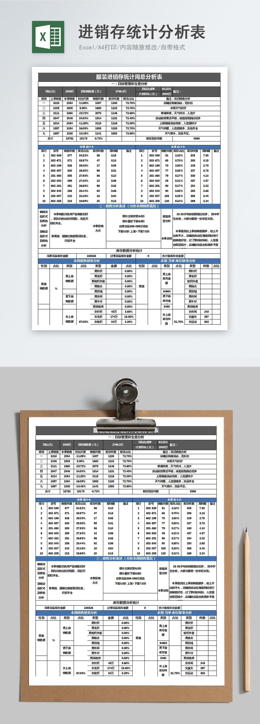 進銷存統計分析表excel模板 excel表格 | XLS 模板編號400159117 | zh.lovepik.com 表格下載