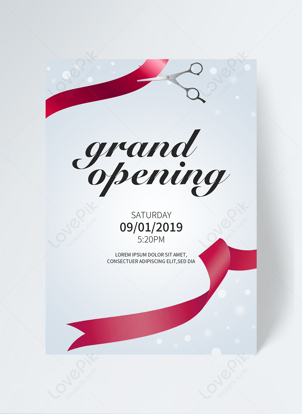 grand opening invitation letter of