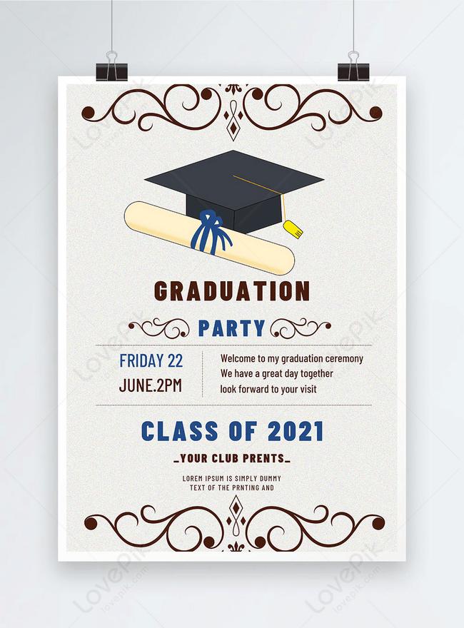 Desain Undangan Wisuda : desain, undangan, wisuda, Contoh, Undangan, Graduation, Belajar