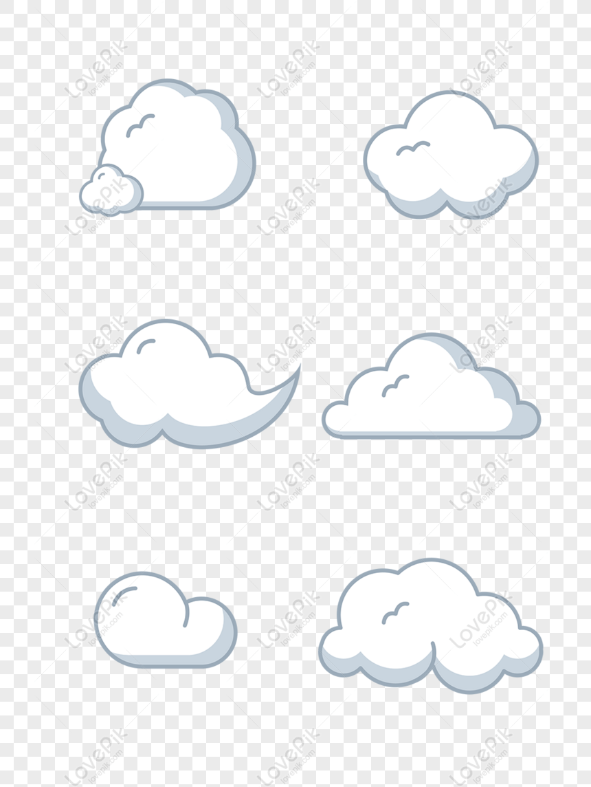 Cartoon Clouds Png : cartoon, clouds, Vector, Cartoon, Stick, White, Clouds, Image, Download, Px,ID, 832716891, Lovepik