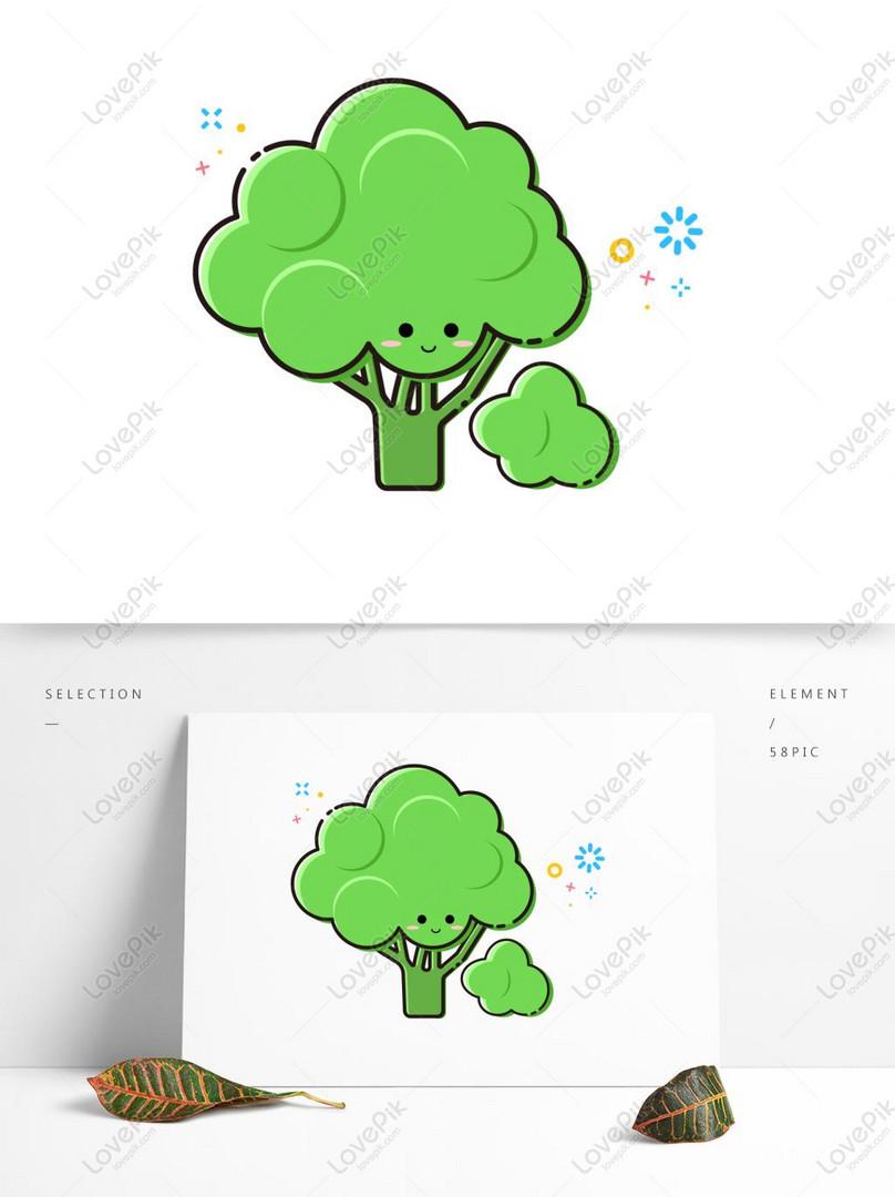 Brokoli Vektor PNG grafik gambar unduh gratis - Lovepik