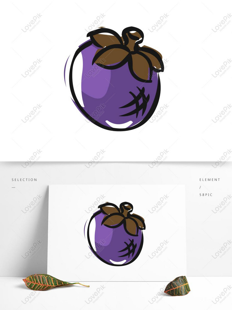 Gambar Manggis Kartun : gambar, manggis, kartun, Unsur, Makanan, Tangan, Ditarik, Manggis, Kartun, Buahan, Gambar, Unduh, Gratis_imej, 732392755_Format, AI_my.lovepik.com