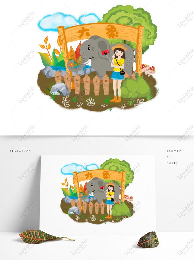 Gambar Kebun Binatang Kartun : gambar, kebun, binatang, kartun, Gambar, Karikatur, Kebun, Binatang