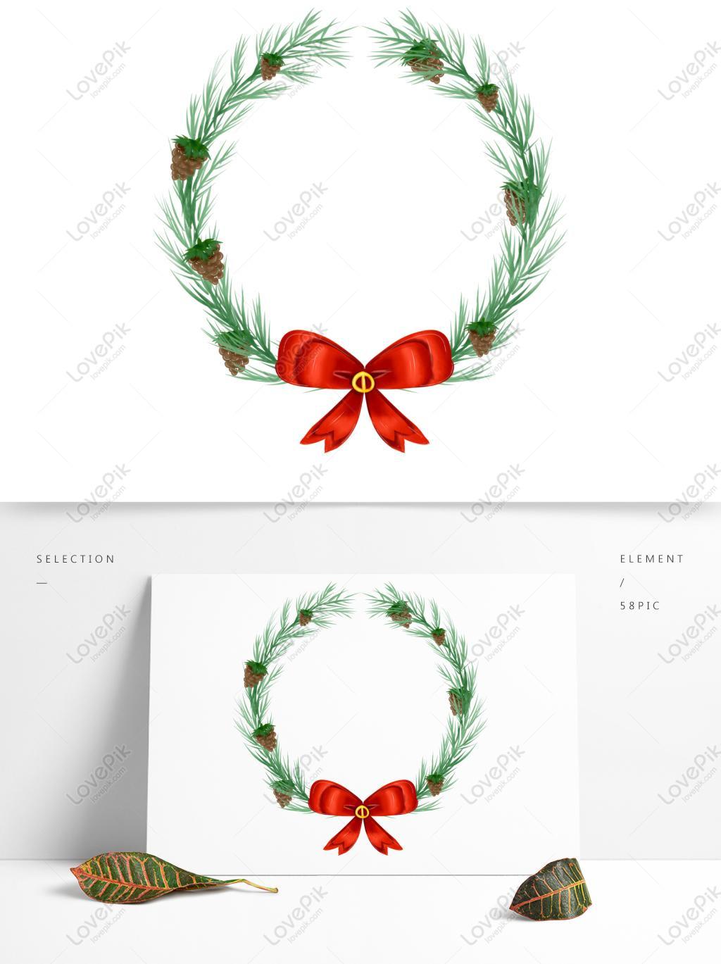 商用手繪聖誕節日樹枝植物聖誕花環元素PSD美工圖案免費下載-素材分辨率1369 × 1024px - Lovepik ID732503830