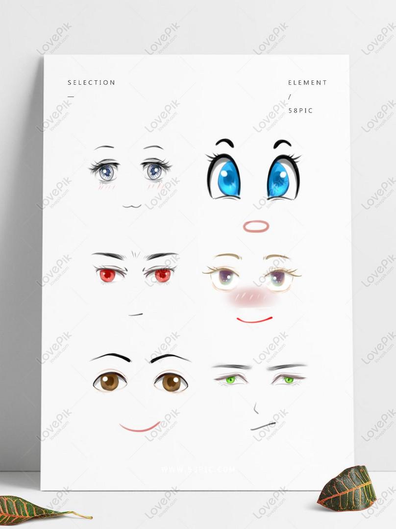 Gambar Mata Kartun : gambar, kartun, Kartun, Tangan, Dicat, Anime, Emotikon, Gambar, Unduh, Gratis_imej, 733584086_Format, PSD_my.lovepik.com