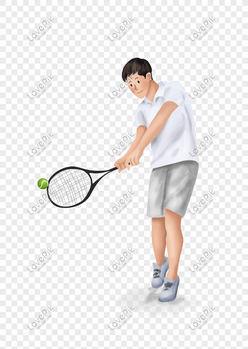 Bermain Tenis : bermain, tenis, Bocah, Bermain, Tenis, Liburan, Musim, Panas, Grafik, Gambar, Unduh, Gratis, Lovepik