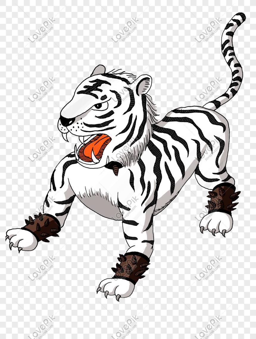 Gambar Harimau Png : gambar, harimau, White, Tiger, Chinese, Beasts, Image_picture, Download, 610781513_lovepik.com