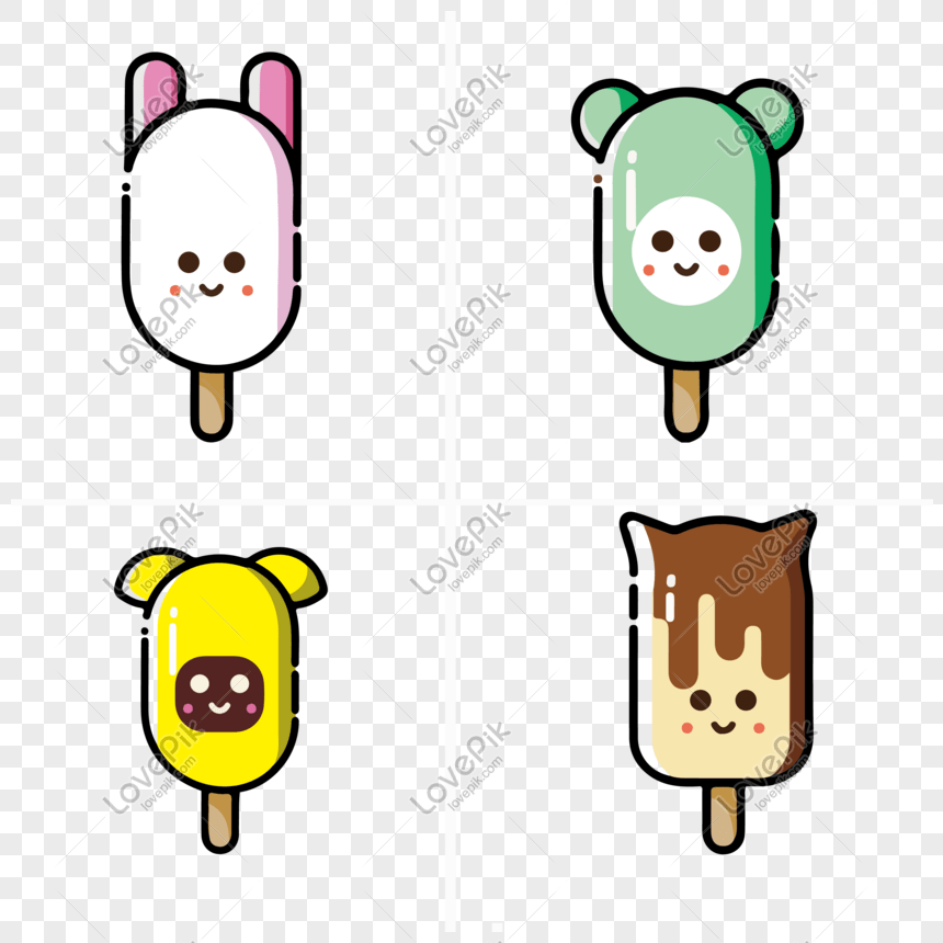 Cute mbe style animal ice cream png image_picture free download ...