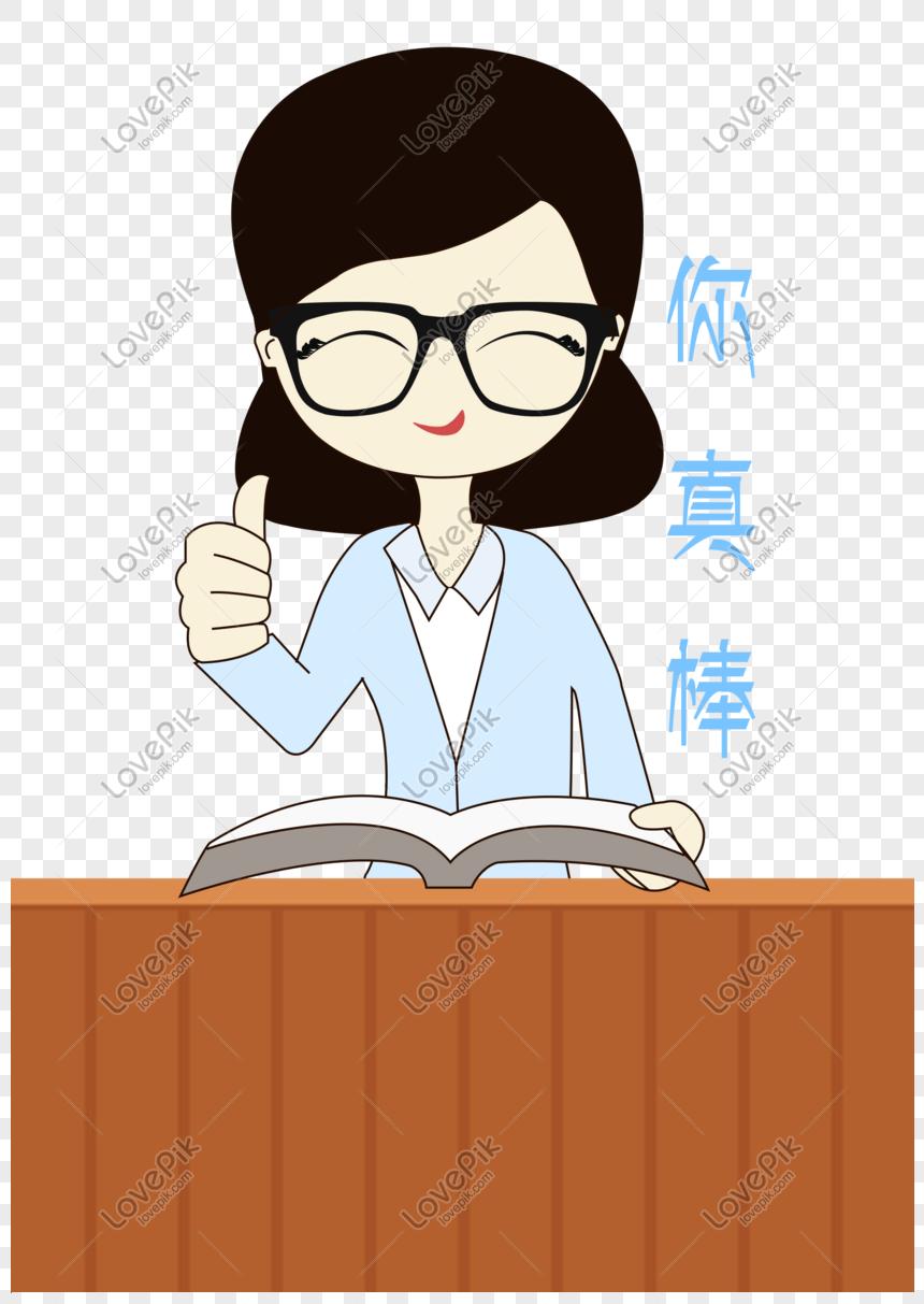 Gambar Kartun Guru : gambar, kartun, Kartun, Ditarik, Tangan, Elemen, Ekspresi, Gambar, Unduh, Gratis_imej, 611004868_Format, PSD_my.lovepik.com