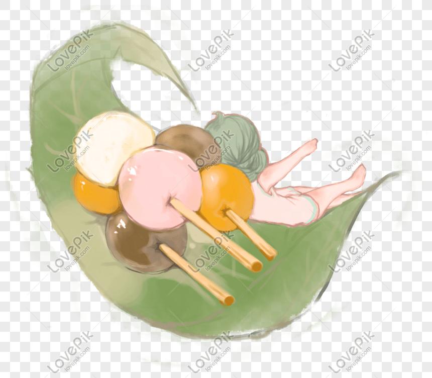 美食與可愛少女卡通主題插畫麻薯草團PSD圖案素材免費下載 - 尺寸3616 × 3150px - 圖形ID611275603 - Lovepik
