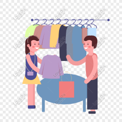 Shopping warm color cartoon hand painted wind to buy clothes bar png image picture free download 611311157 lovepik com