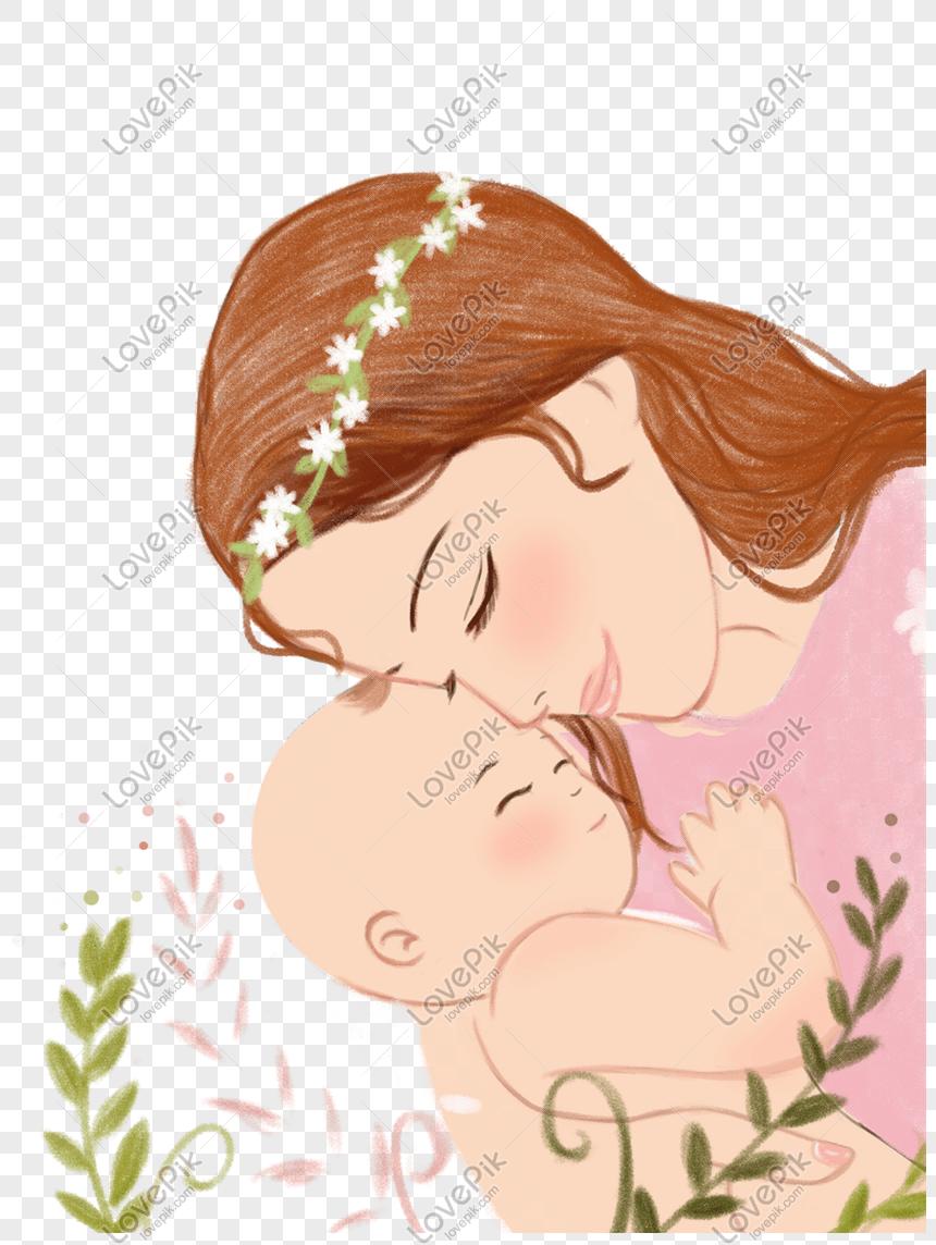 Animasi Ibu Dan Anak : animasi, Mother, Theme, Cartoon, Illustration, Image_picture, Download, 611443871_lovepik.com