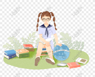 Study hard prepare for exams cute girls png image picture free download 611582755 lovepik com