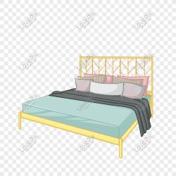 Cartoon light color design bedroom bed png image picture free download 611609753 lovepik com