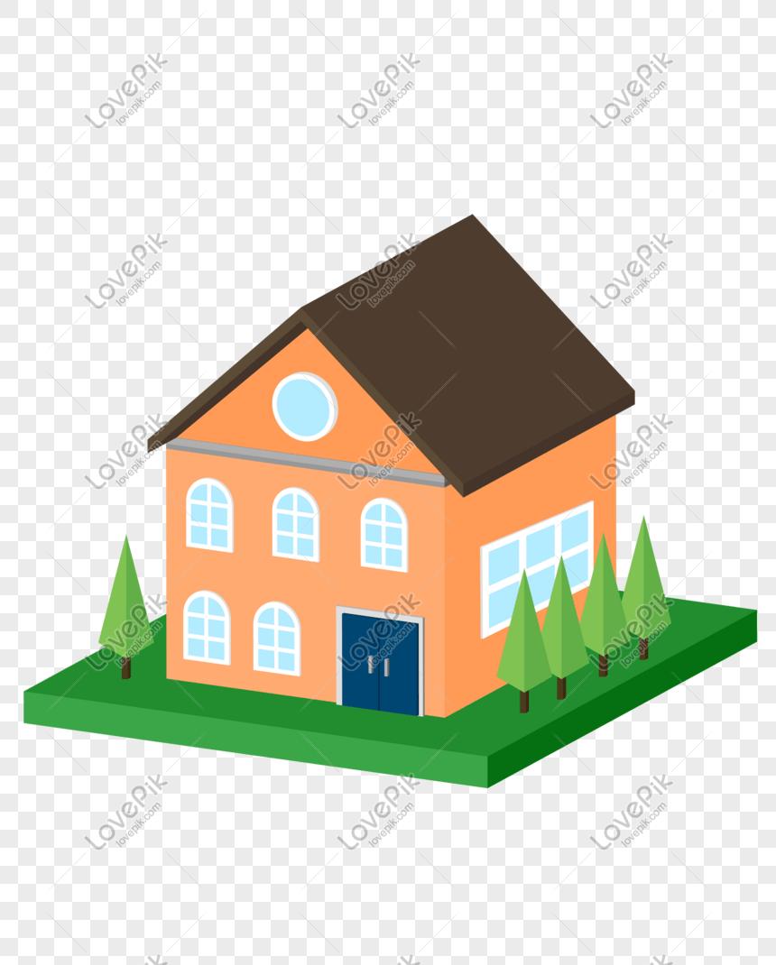 Rumah Vektor Png : rumah, vektor, Vektor, Ditarik, Tangan, Kartun, Bangunan, Rumah, Grafik, Gambar, Unduh, Gratis, Lovepik