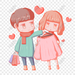 Valentines day cartoon hand drawn shopping buy clothes couple c png image picture free download 611767369 lovepik com