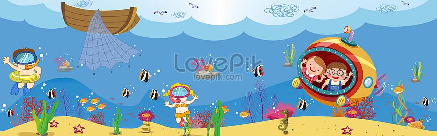 海洋卡通世界圖片素材-CDR圖片尺寸7559 × 2362px-高清圖片400054622-zh.lovepik.com