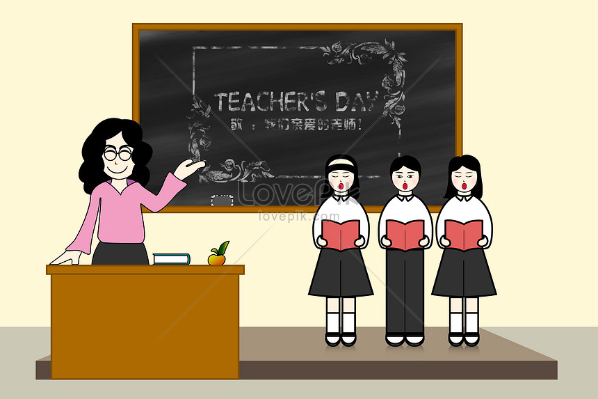 Hand Drawing Of Teachers Day Illustration Image Picture Free Download 400058080 Lovepik Com
