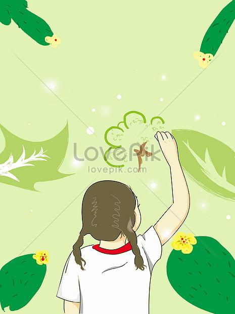 Sedang Menggambar : sedang, menggambar, Seorang, Gadis, Kecil, Sedang, Menggambar, Gambar, Unduh, Gratis_, Kreatif, 400059071_Format, PSD_lovepik.com