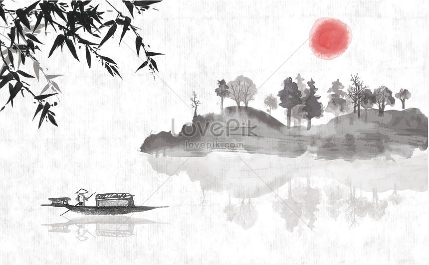 中國風水墨畫圖片素材-AI圖片尺寸3541 × 2189px-高清圖片400059526-zh.lovepik.com