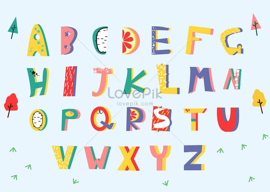 手繪英文卡通字體AI圖案素材免費下載 - 尺寸419 × 300px - 圖形ID400128434 - Lovepik