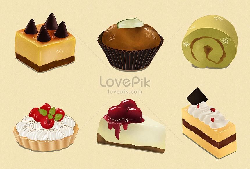 下午茶甜點蛋糕插畫圖片素材-PSD圖片尺寸4450 × 3000px-高清圖片400241478-zh.lovepik.com
