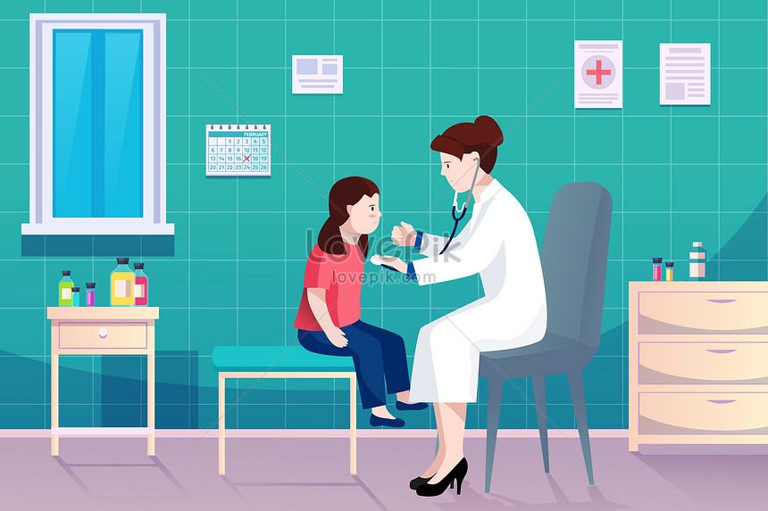 醫院醫生給小朋友體檢看病圖片素材-AI圖片尺寸3000 × 2000px-高清圖片401691610-zh.lovepik.com