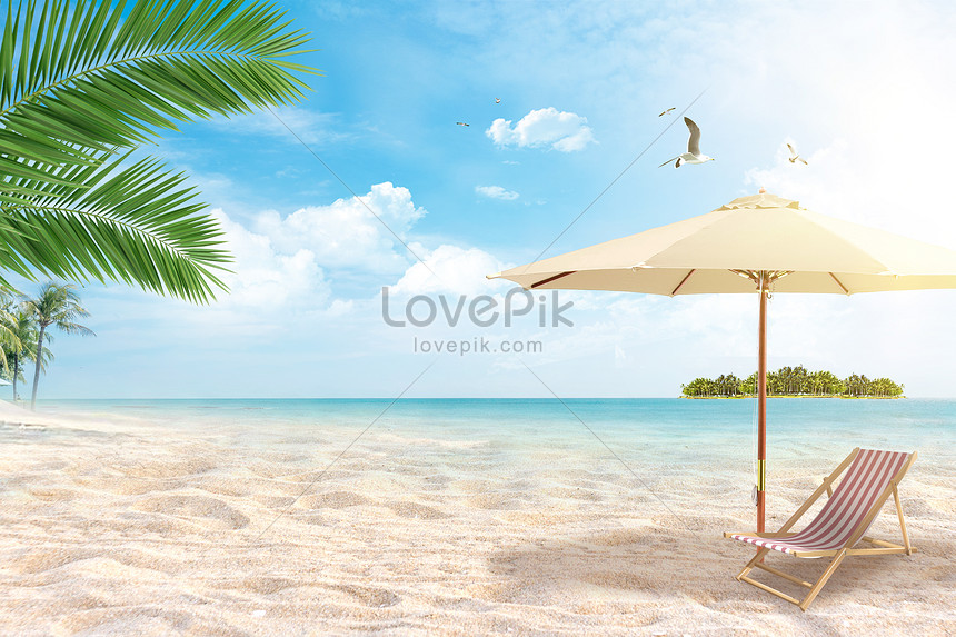 Sea Beach Vacation Background Creative Image Picture Free Download 401720470 Lovepik Com