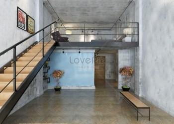 Casa De Viento Industrial Americana Interior HD Creativo antecedentes imagen descargar Lovepik