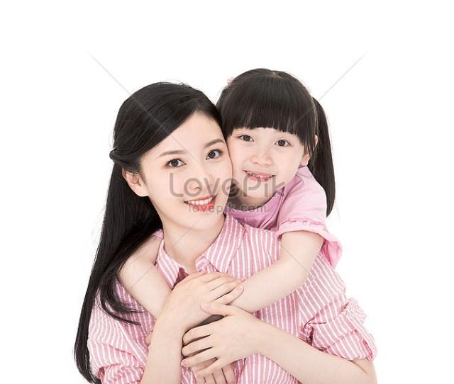 Ibu Dan Anak Perempuan Yang Lucu Gambar Unduh Gratis_imej