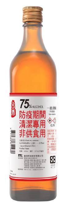 全聯明天改賣「臺灣菸酒75%防疫清潔用酒精」 - 自由財經