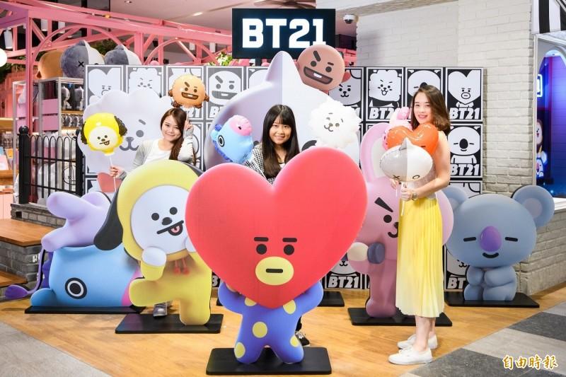 BTS防彈少年團週六來臺 LINE周邊宇宙明星BT21粉絲大搶貨 - 自由娛樂