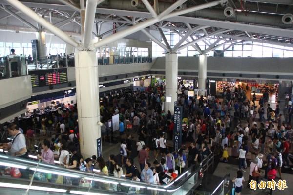 颱風天北返 嘉義高鐵站人潮滿滿 - 生活 - 自由時報電子報